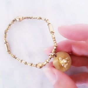 Handmade Beaded Buda Gold Bracelet Luck Fortune